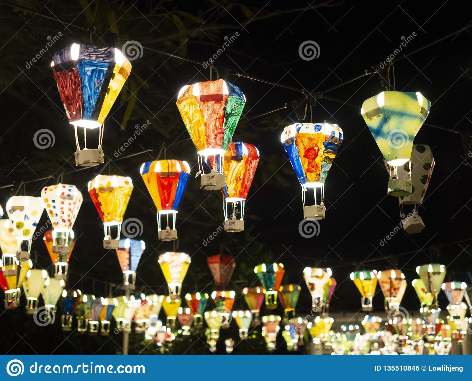 Hot air balloon festival, Lebuh Pantai, Georgetown, Penang