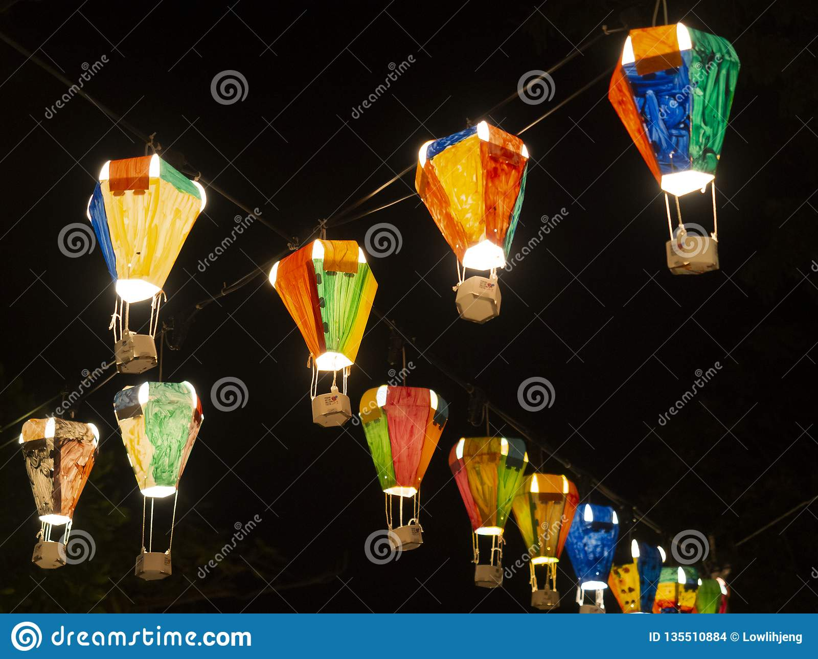 Hot air balloon festival, Lebuh Pantai, Georgetown, Penang