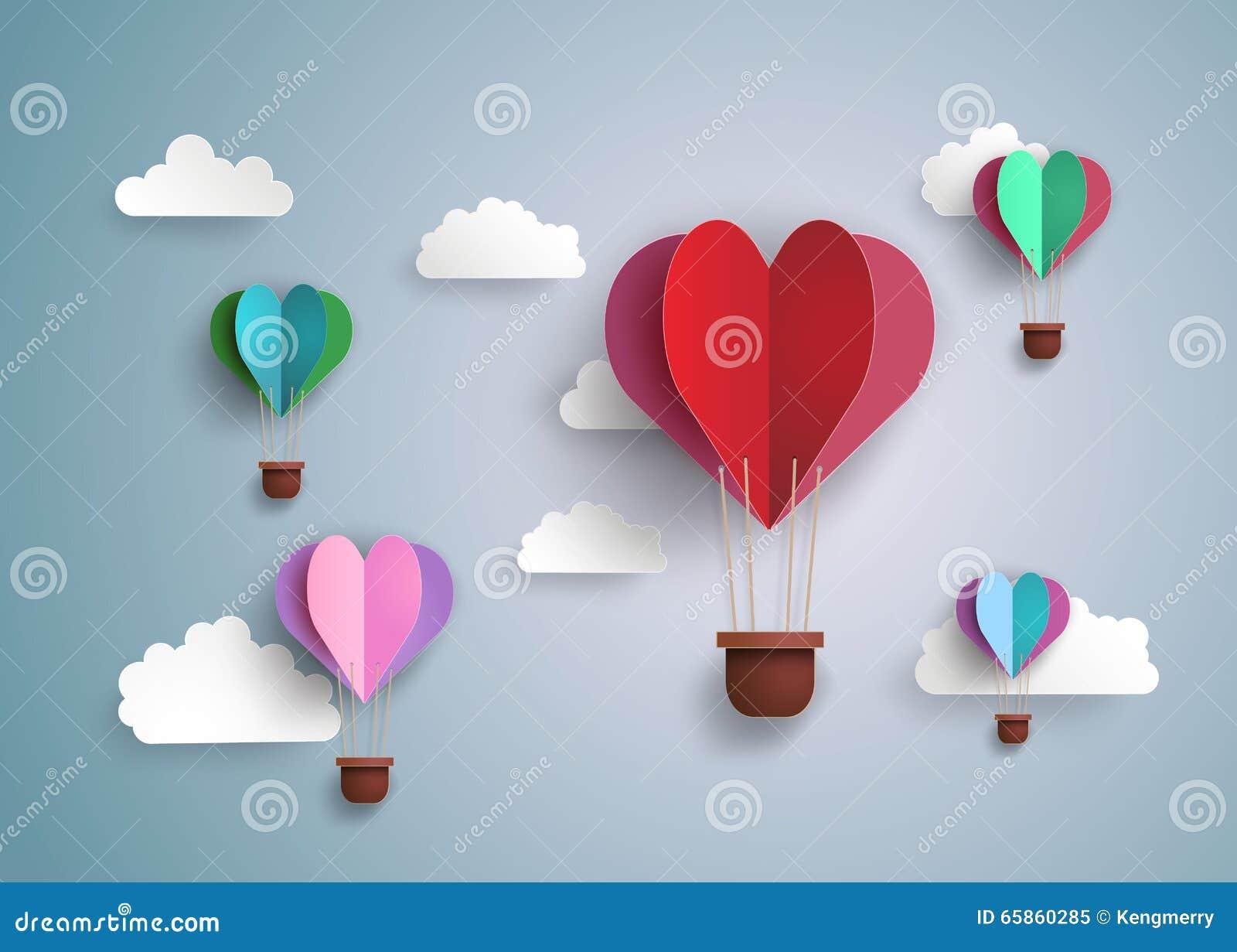 Hot air balloon in a heart shape stock vector illustration of hot air balloon in a heart shape summer decorative jeuxipadfo Choice Image