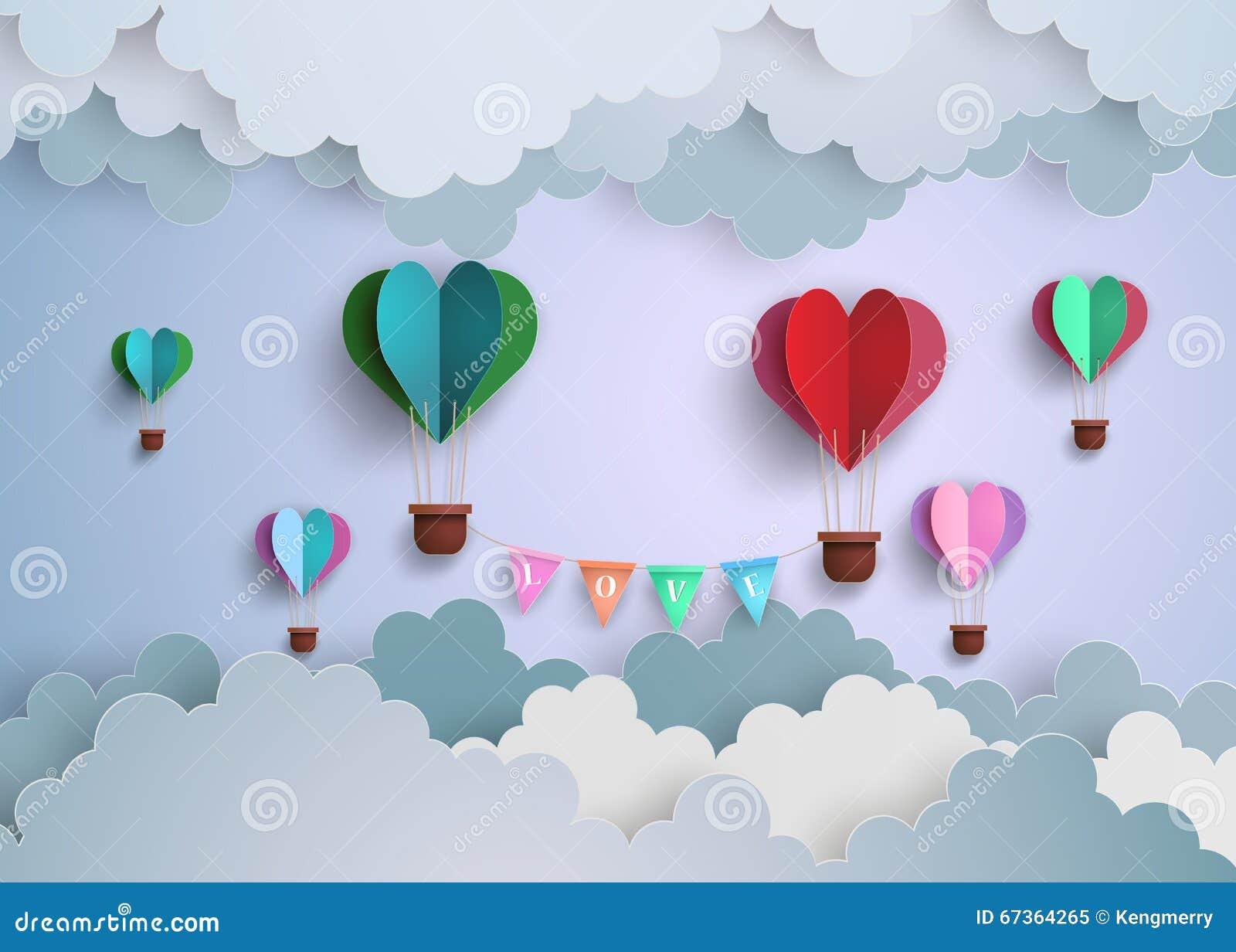 Hot air balloon in a heart shape cartoon vector cartoondealer hot air balloon in a heart shape cartoon vector cartoondealer 67364265 jeuxipadfo Choice Image