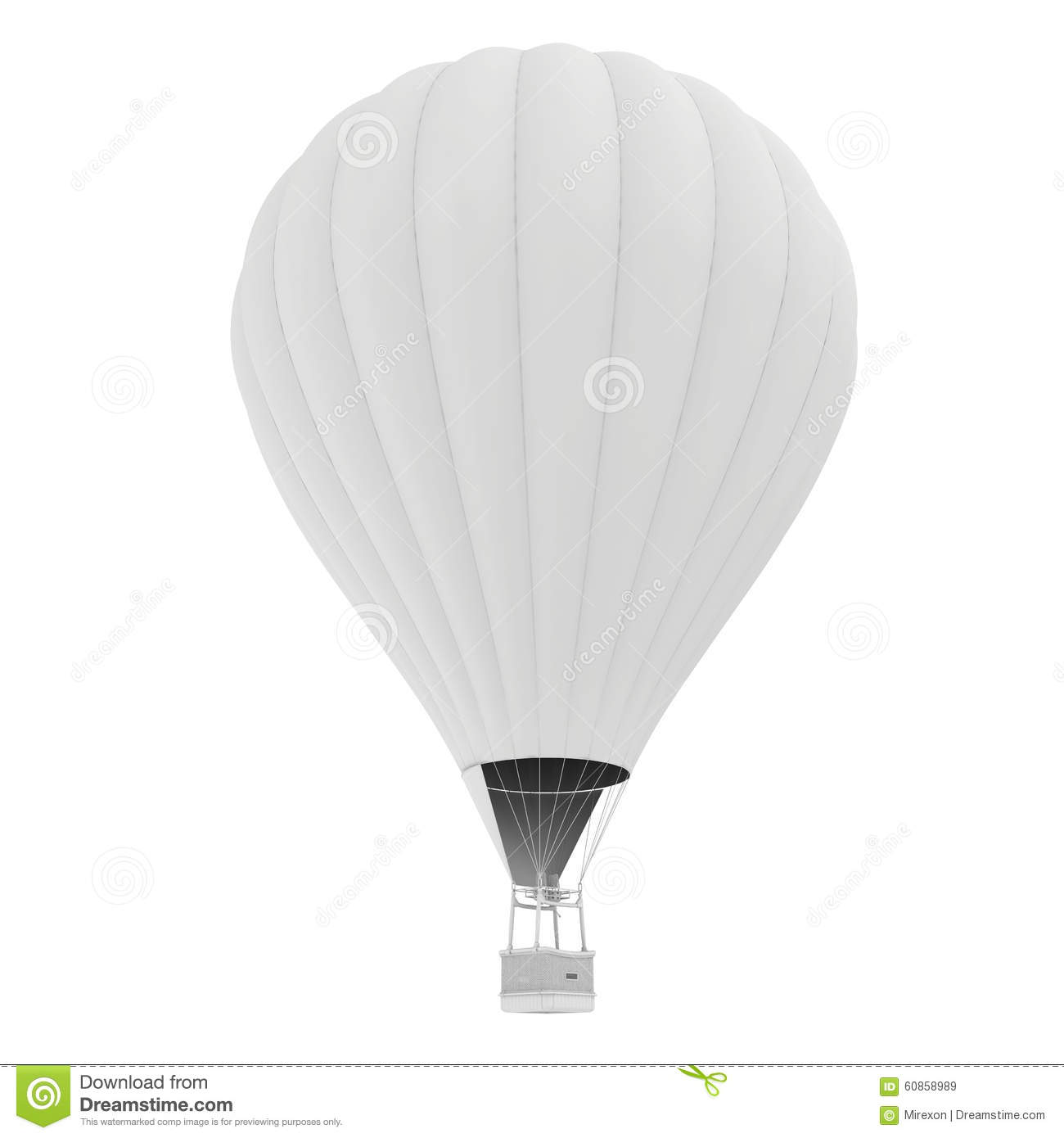 Hot Air Balloon. Isolated On White Background Stock Image - Image of ...
