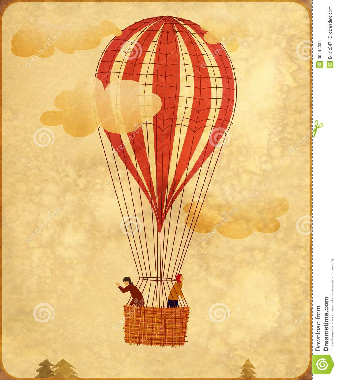 Old Fashioned Air Balloon