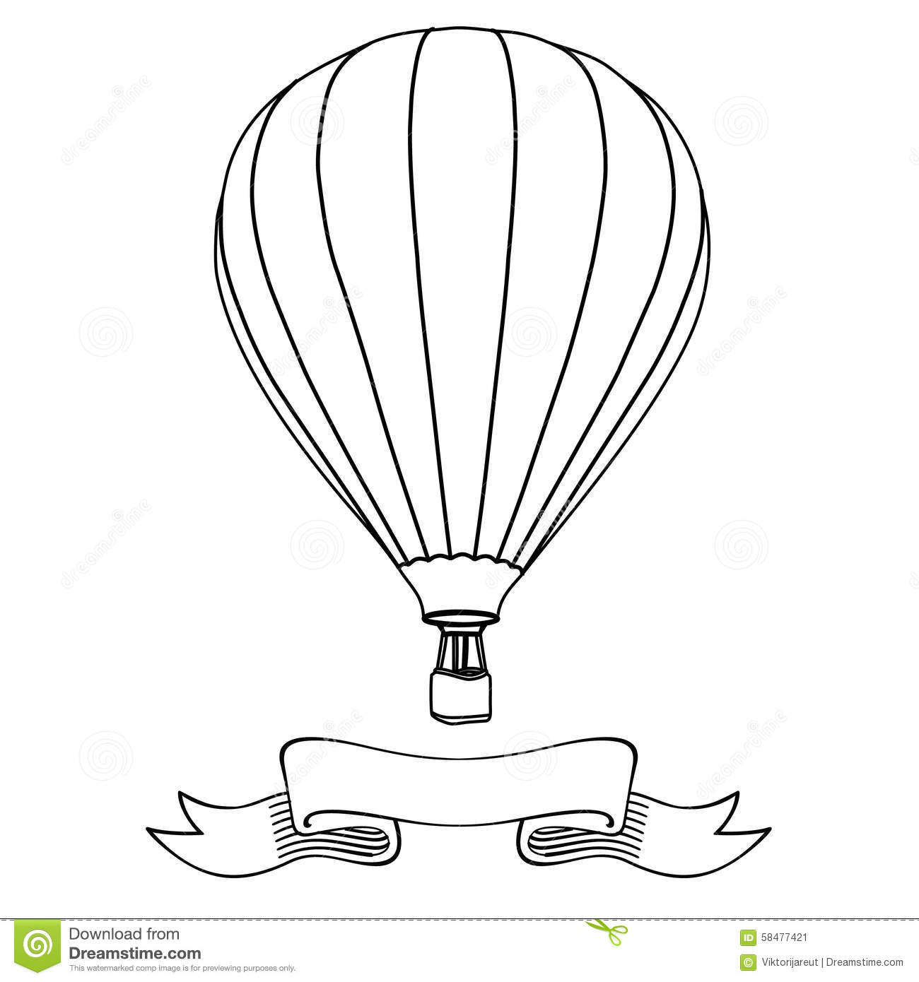 Custom Card Template french id card template : Hot air balloon in the sky with message on banner illustration. Hot ...