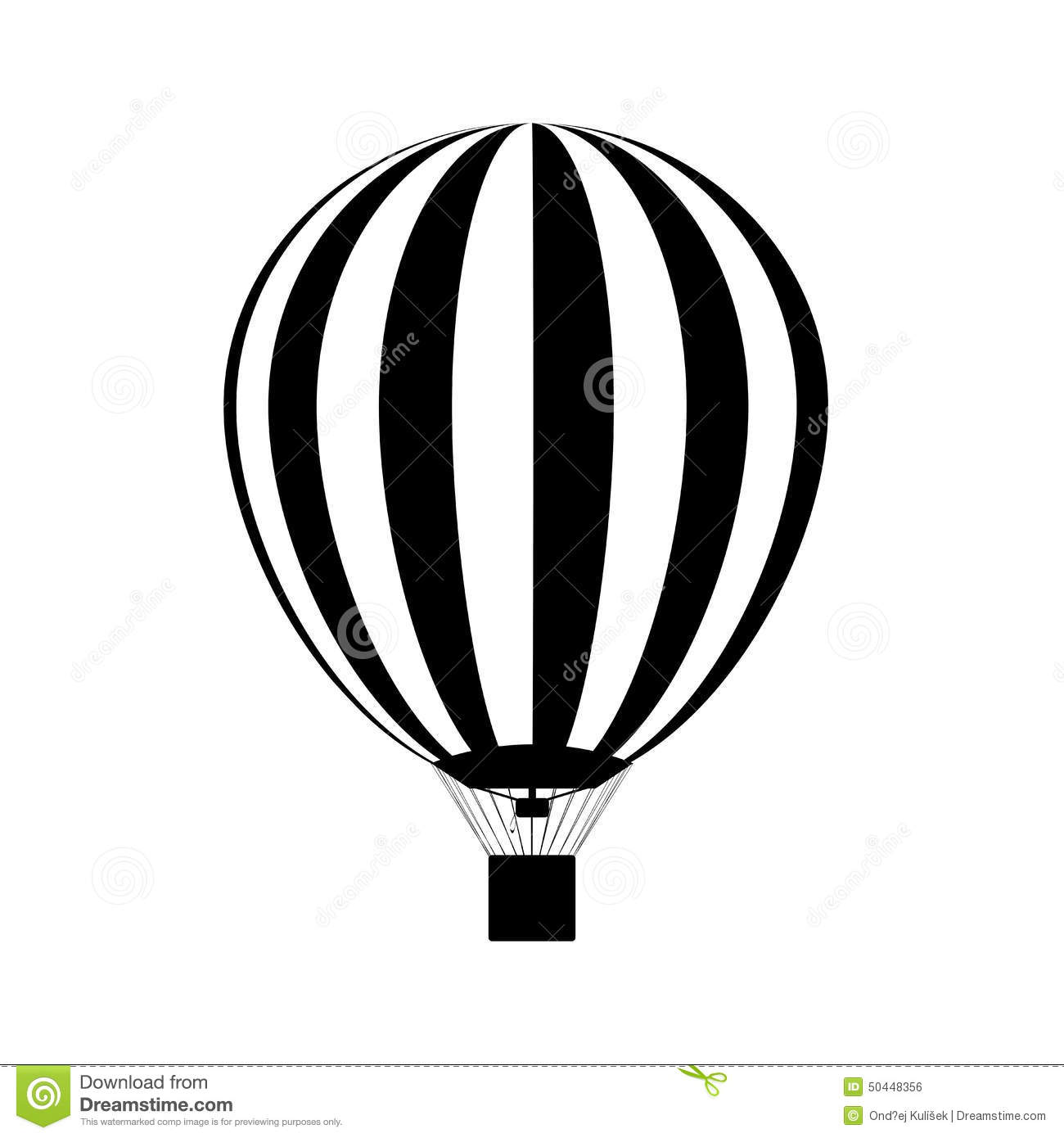 hot air balloon in the sky silhouette vector stock Basket Clip Art Black Air Balloon