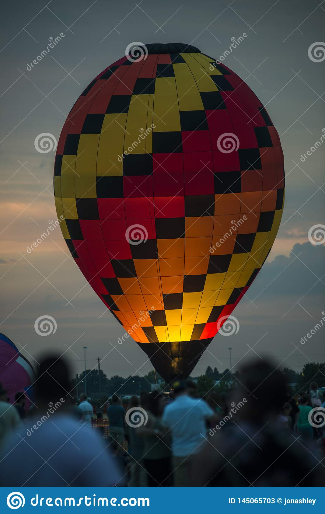 Hot Air Balloon Takeoff