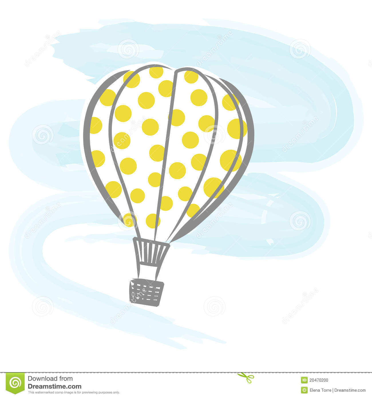 Funny balloon faces - Hot Air Balloon Vector Stock Photo
