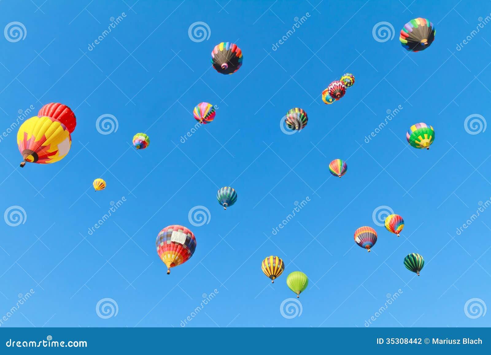 Hot air balloons fiesta