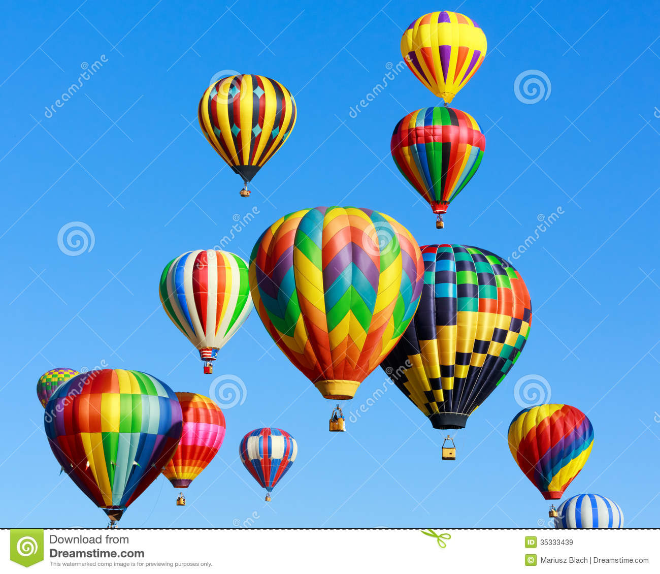 Colorful hot air ballo...