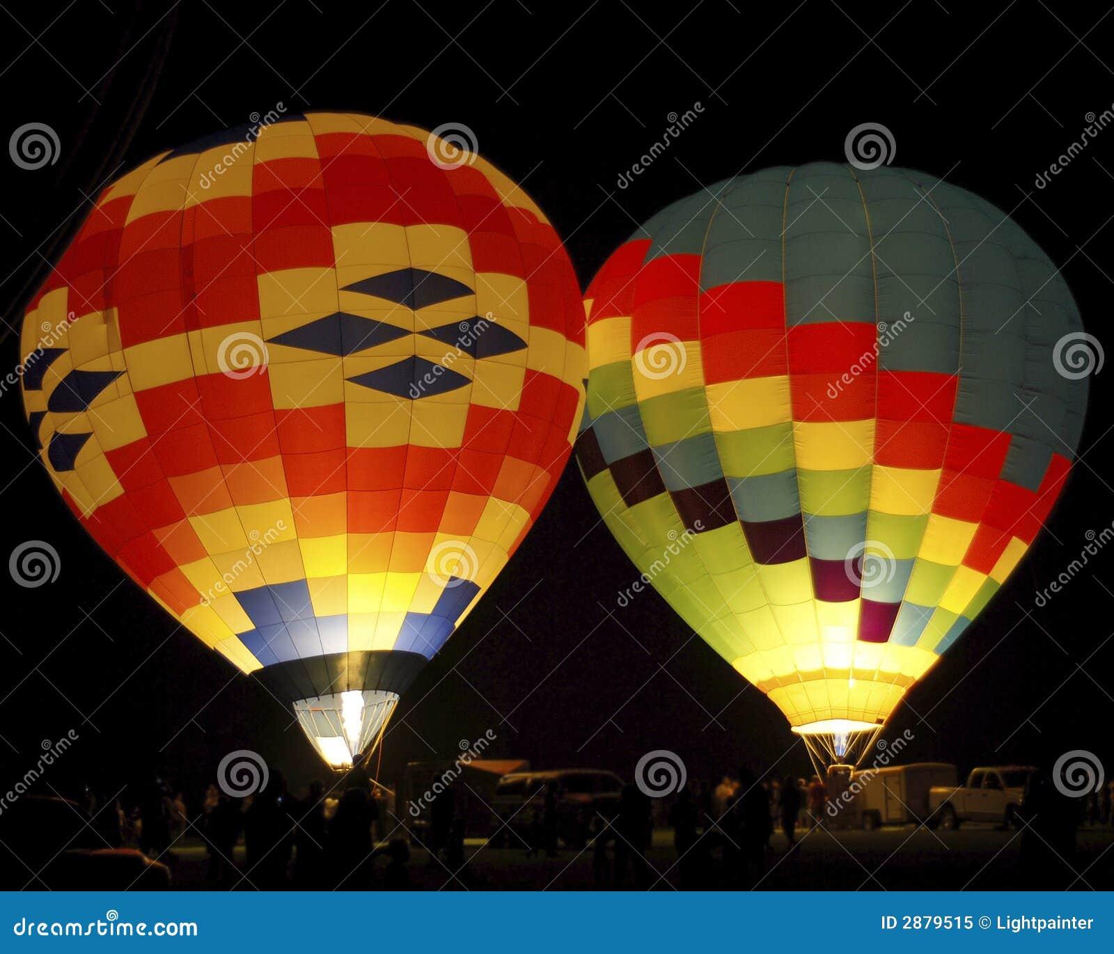 Hot Air Balloons At Night Royalty Free Stock Photo - Image ...