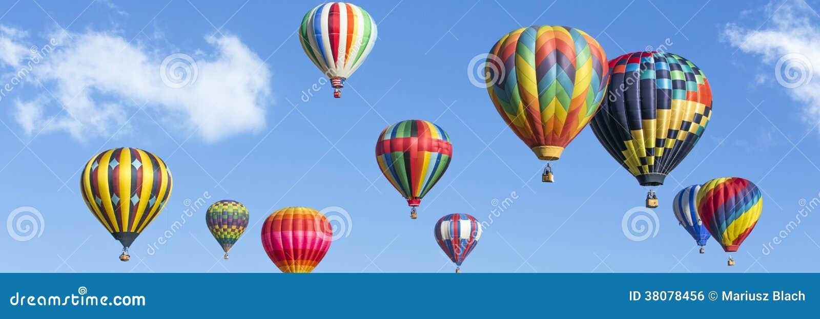 Hot air balloons panorama