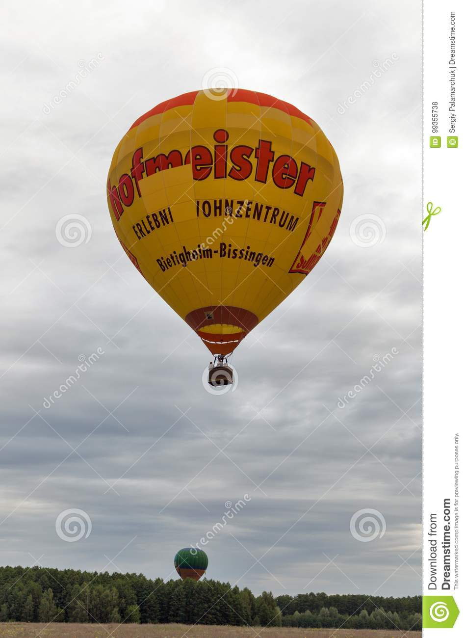 Hot Air Balloons Takeoff Makariv Ukraine