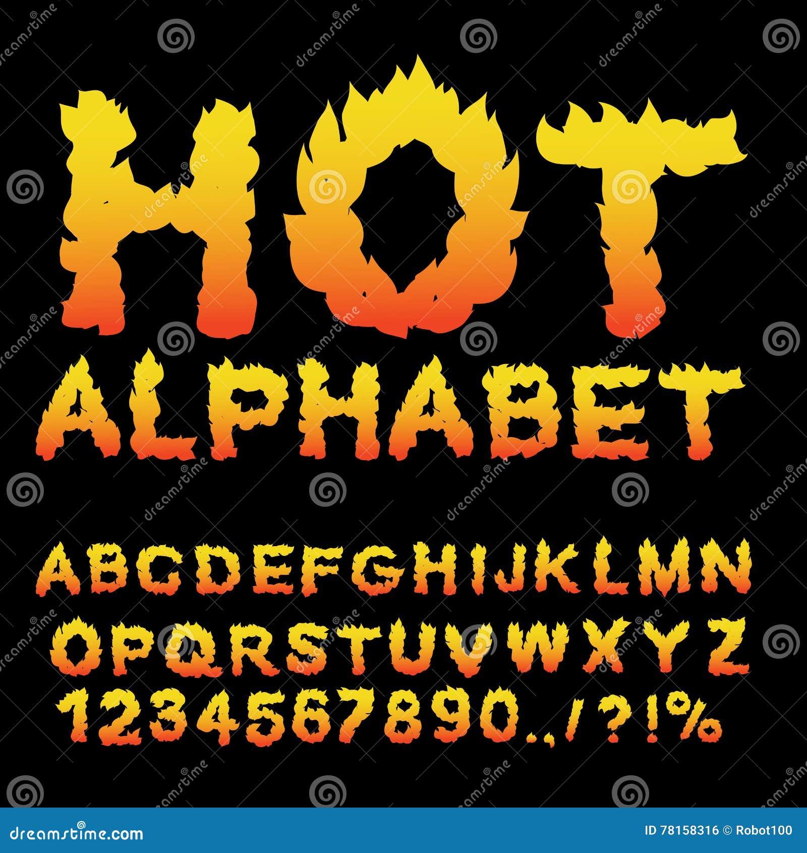 Number Flame Font Stock Illustrations – 1,015 Number Flame Font