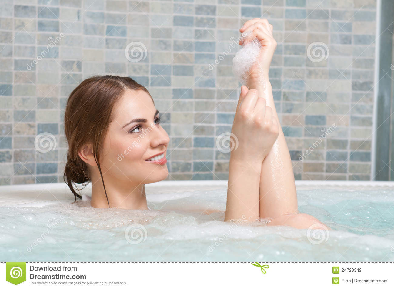 Hot bath stock photo image of beauty lifestyle massage for Bathroom hot images