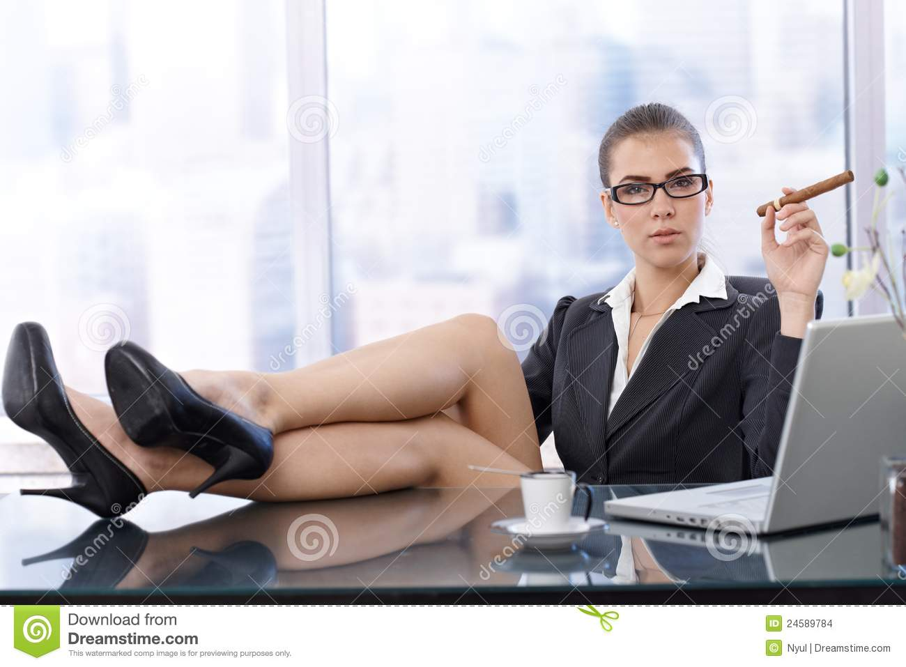Hot businesswoman with feet on desk stock photo image 24589784 - Desk girl image in ...