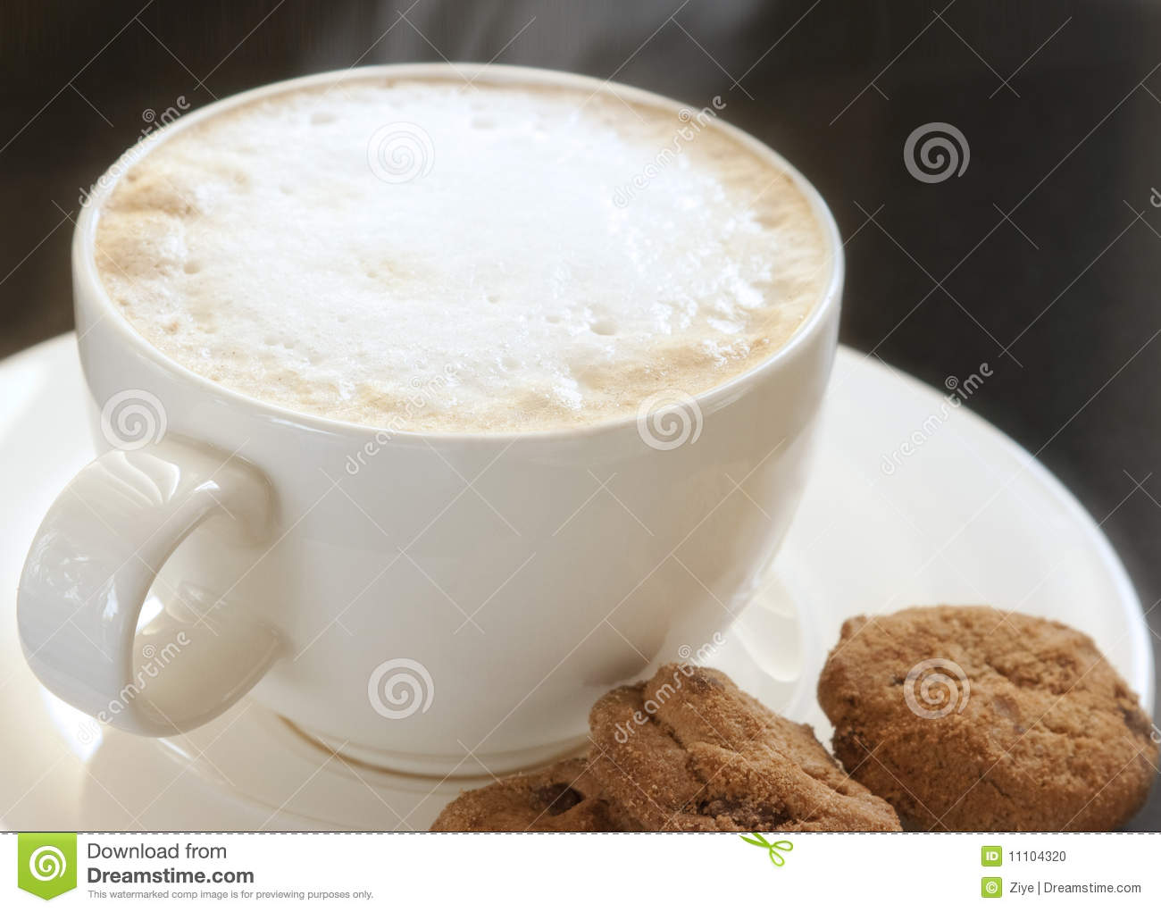 Hot Cappuccino With Cookies Stock Photo - Image: 11104320