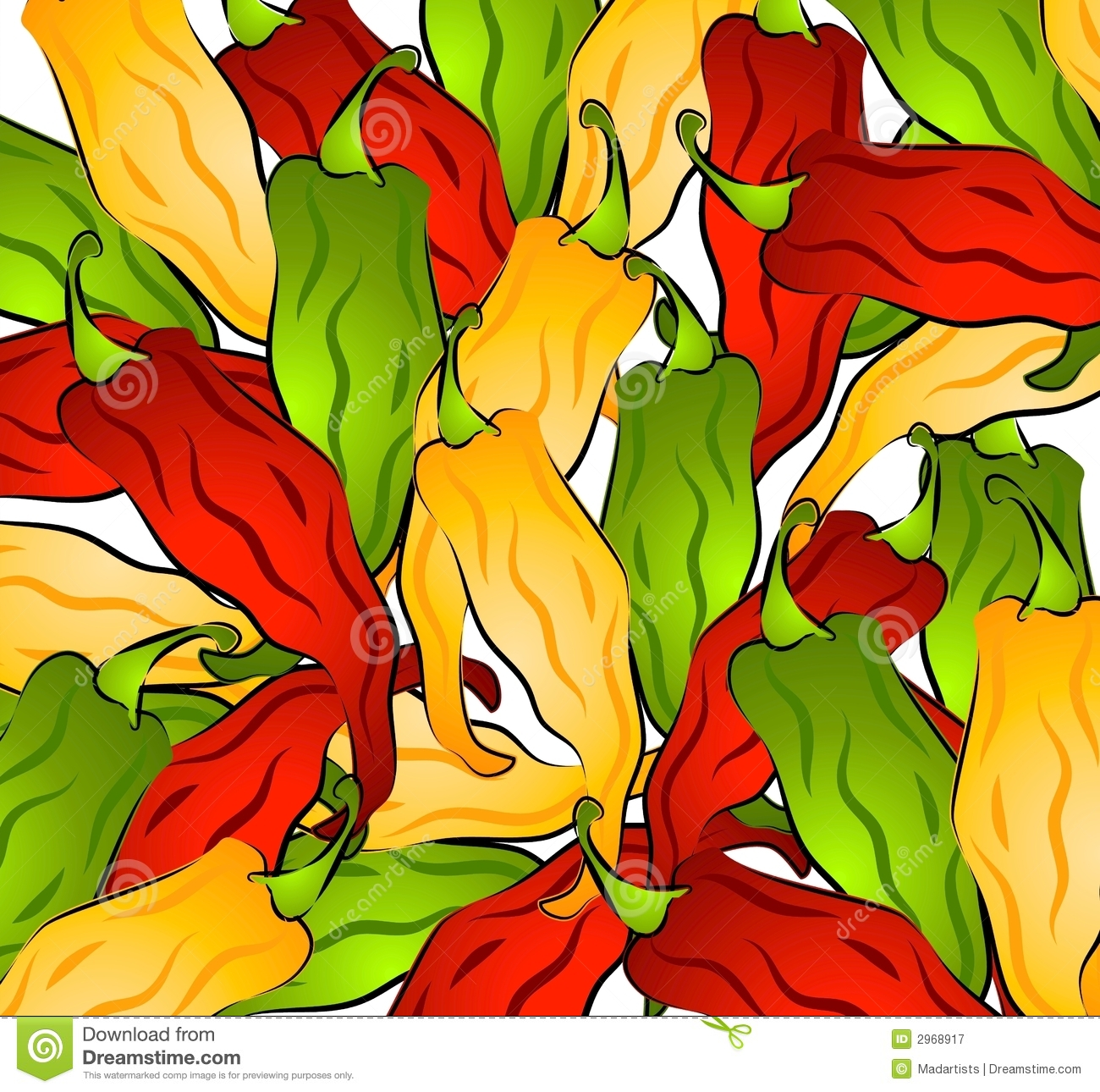 Hot Chili Peppers Clip Art Royalty Free Stock Photos - Image: 2968898
