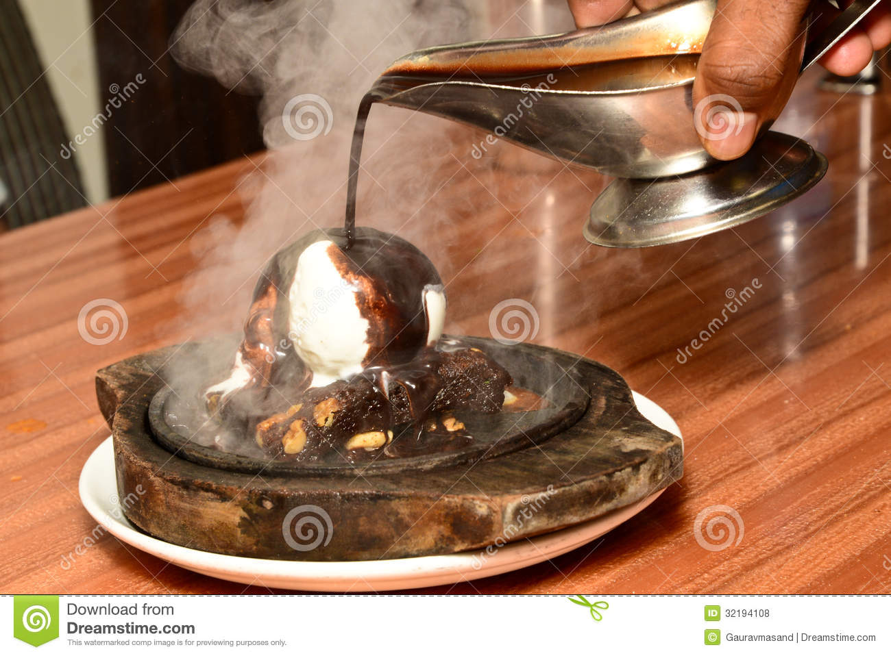 Hot Chocolate Brownie And Ice Cream Royalty Free Stock Photos - Image ...
