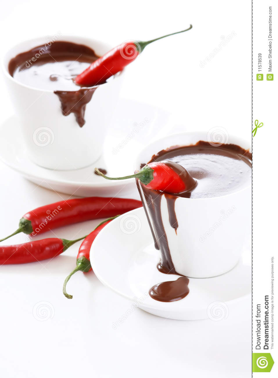 Hot Chocolate With Chili Royalty Free Stock Images - Image: 11578539