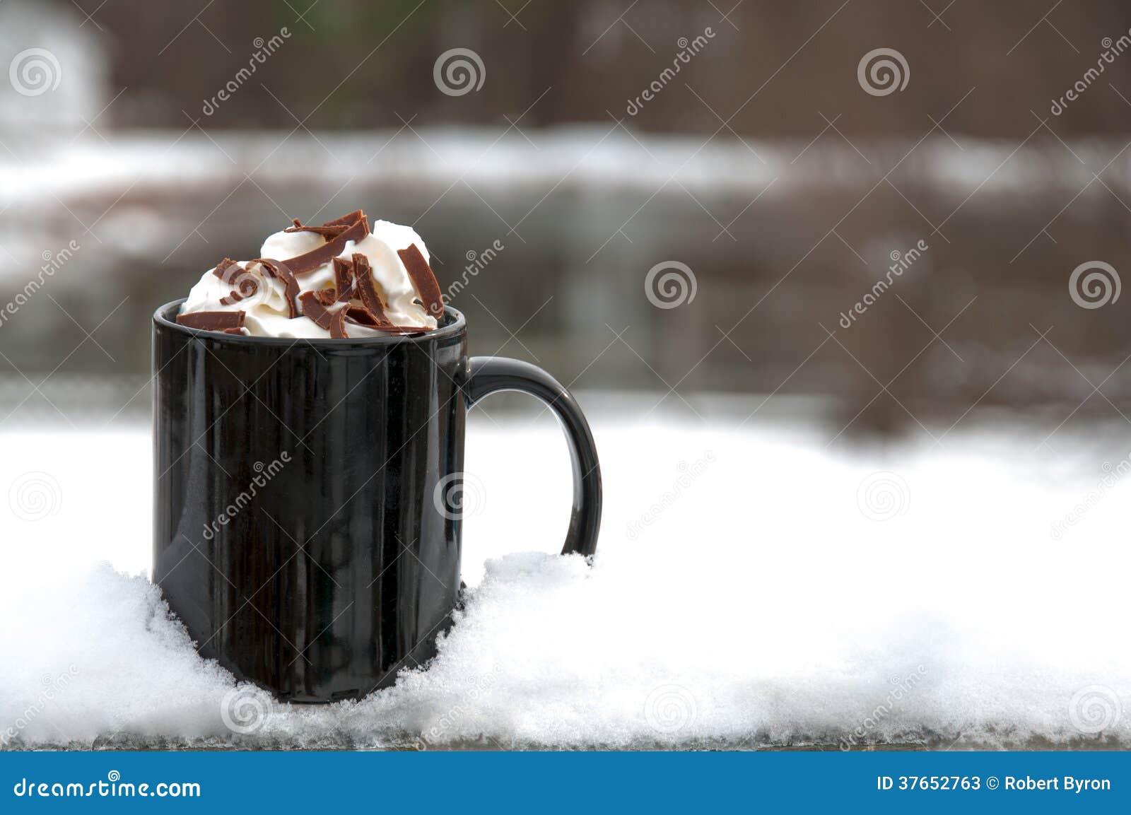 hot chocolate or coffee stock photos image 37652763