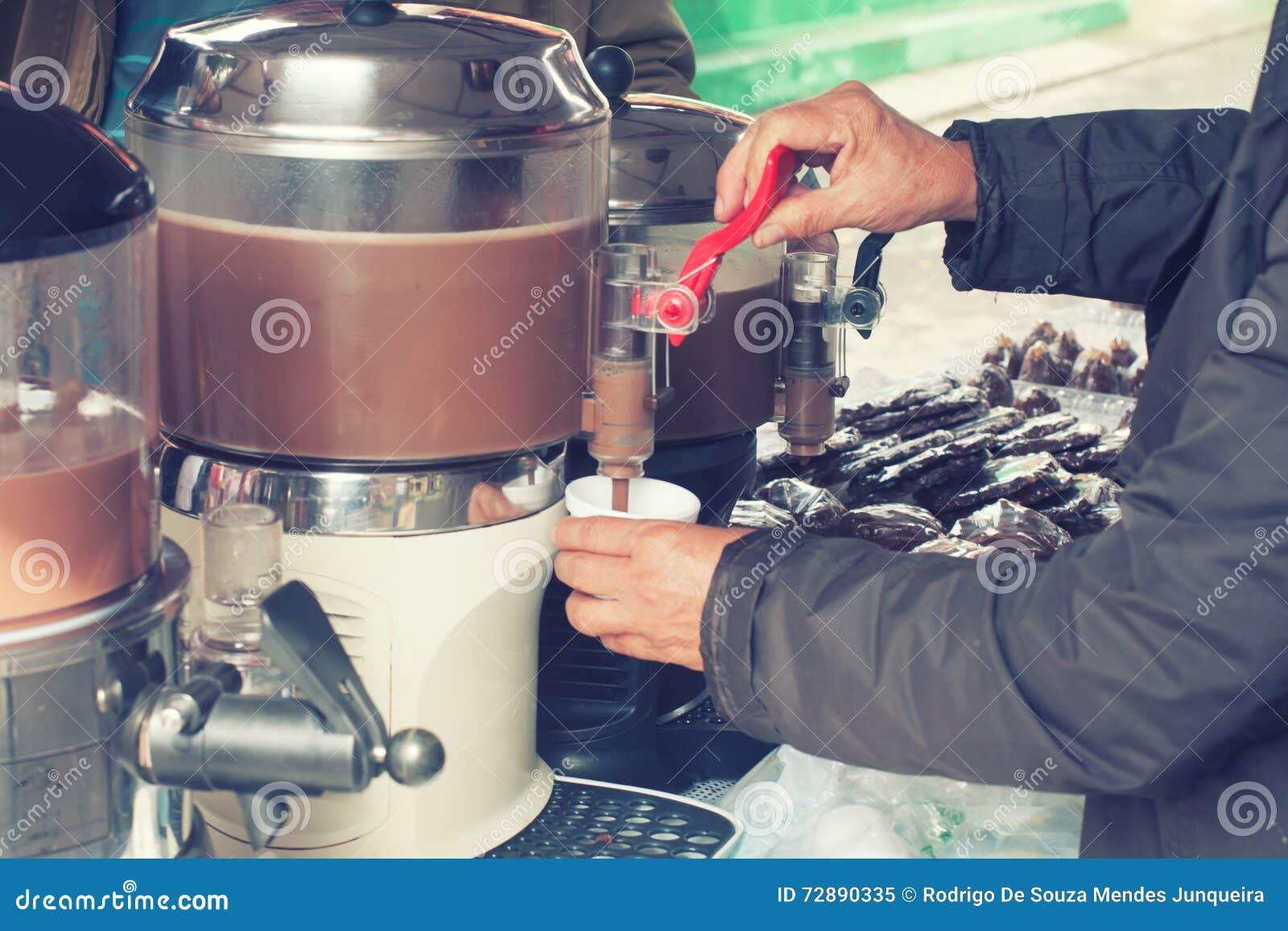 Hot Chocolate Machine Stock Photo - Image: 72890335