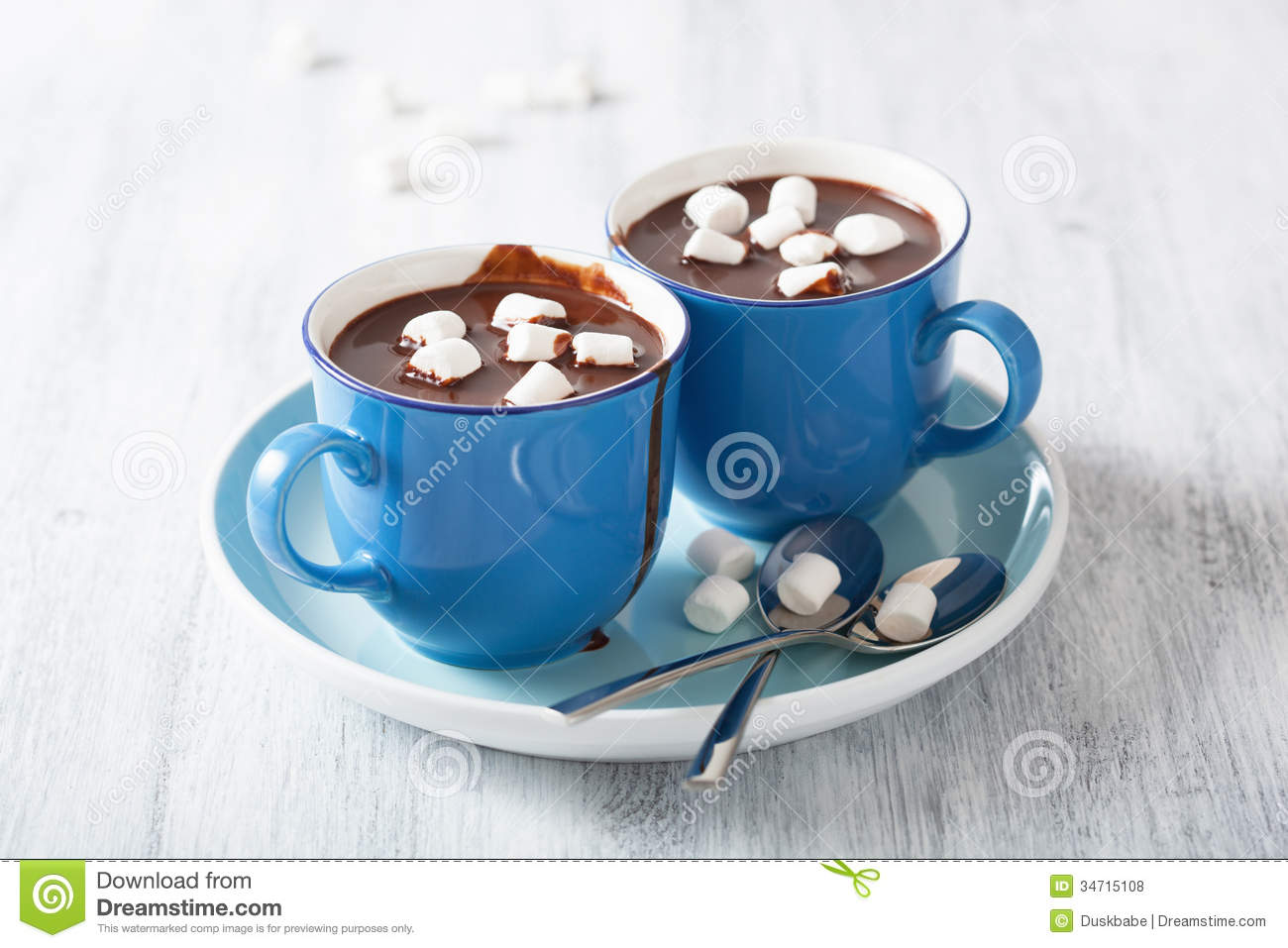 Hot Chocolate With Small Marshmallows Royalty Free Stock Photos - Image 34715108-6395