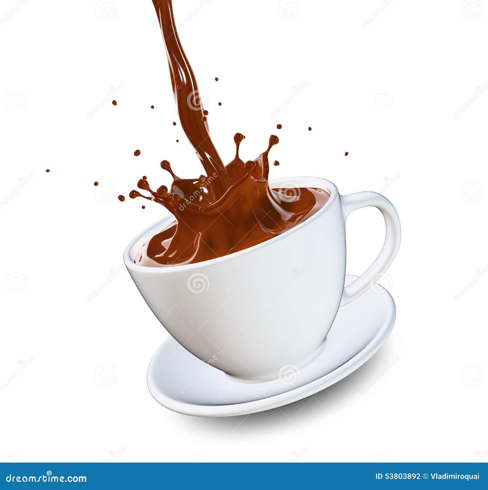 hot coffee white background - photo #42