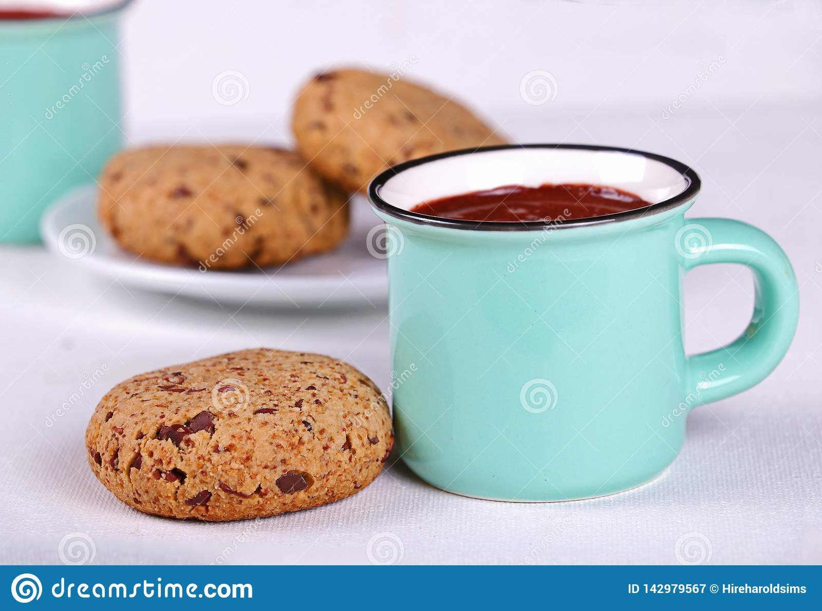 Hot cocoa and chocolate chip cookies