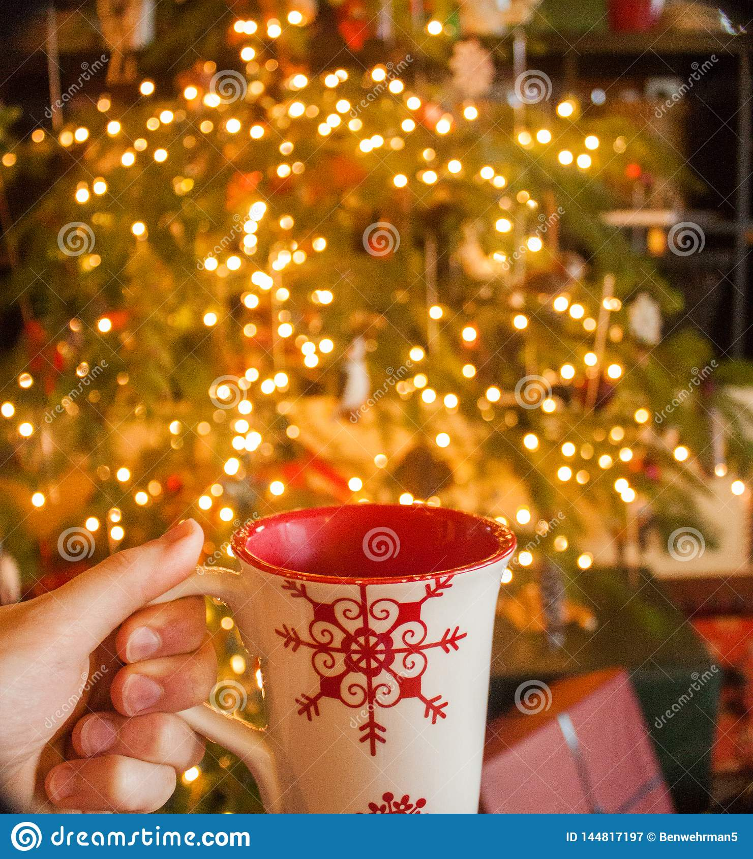 Hot Cocoa by the Christmas Tree