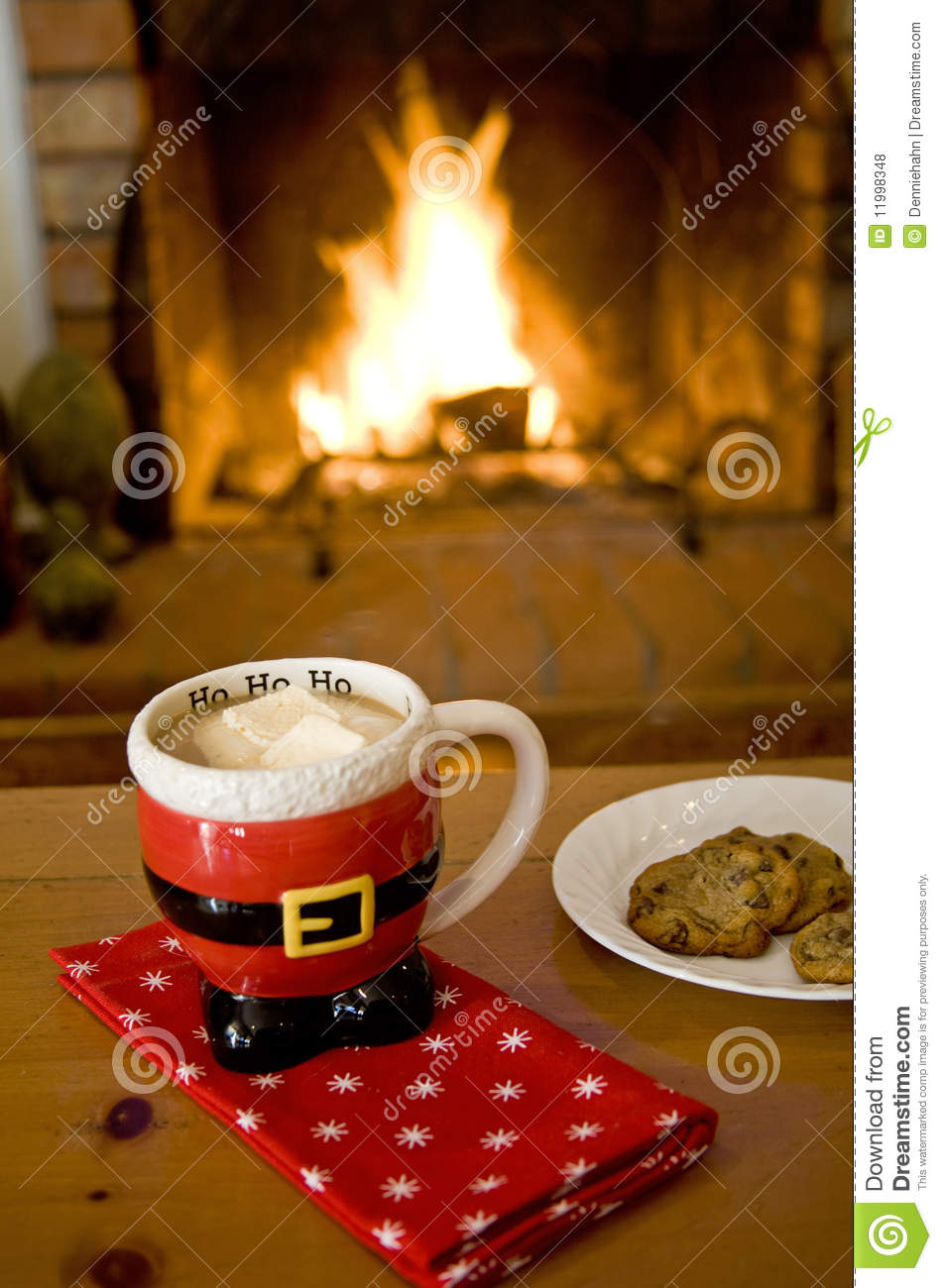 Hot Cocoa By The Fire Royalty Free Stock Photos Image