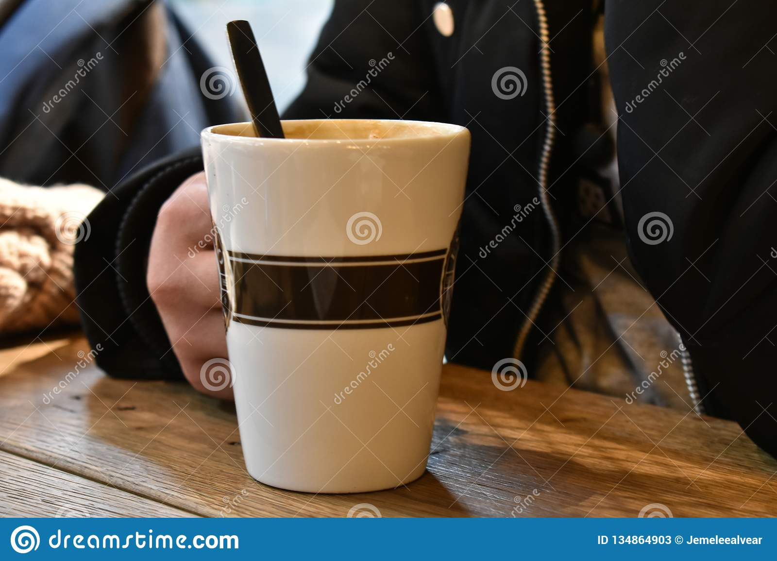 Hot Coffee For A Cold Weather Stock Image - Image of cafe ...