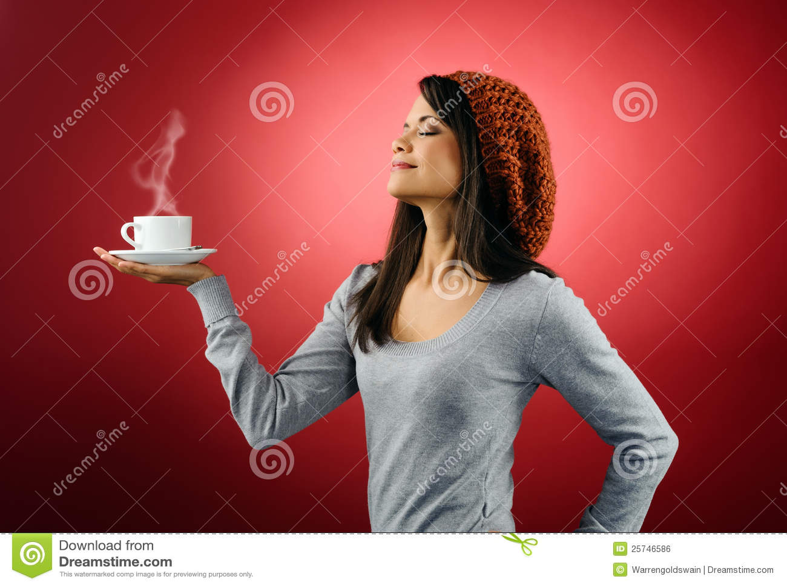 Hot coffee woman