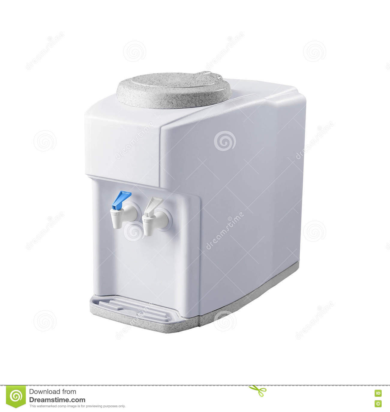 White Hot Water : Hot and cold faucet of water dispenser stock photo