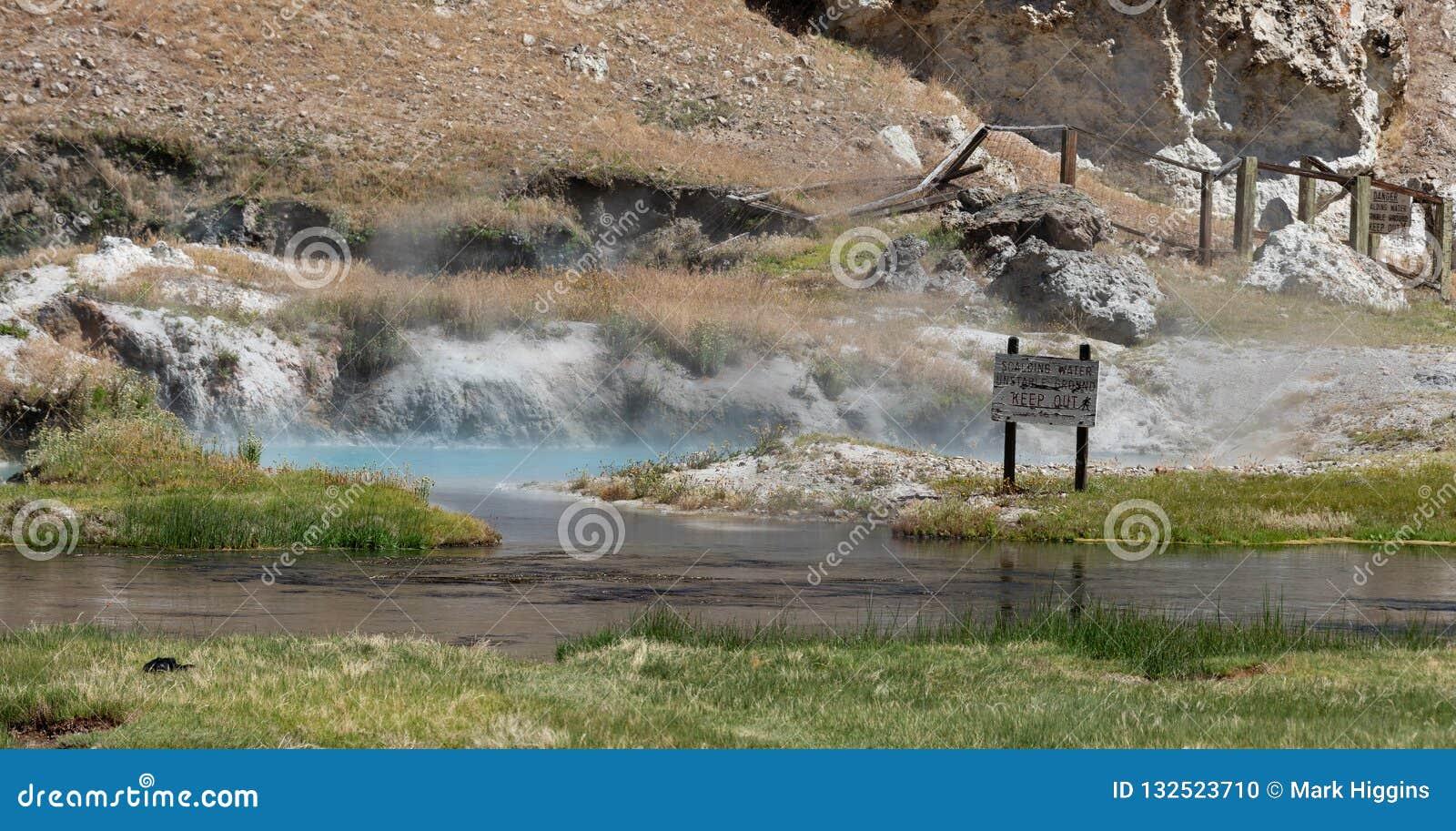 Hot Creek Near Mammoth Lakes USA Stock Photo - Image of fishing