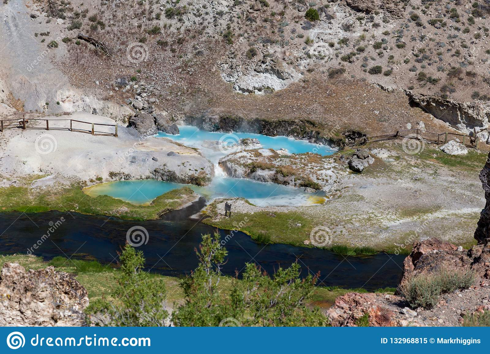 Hot Creek Thermal Pools Near Mammoth Lakes Stock Image - Image of