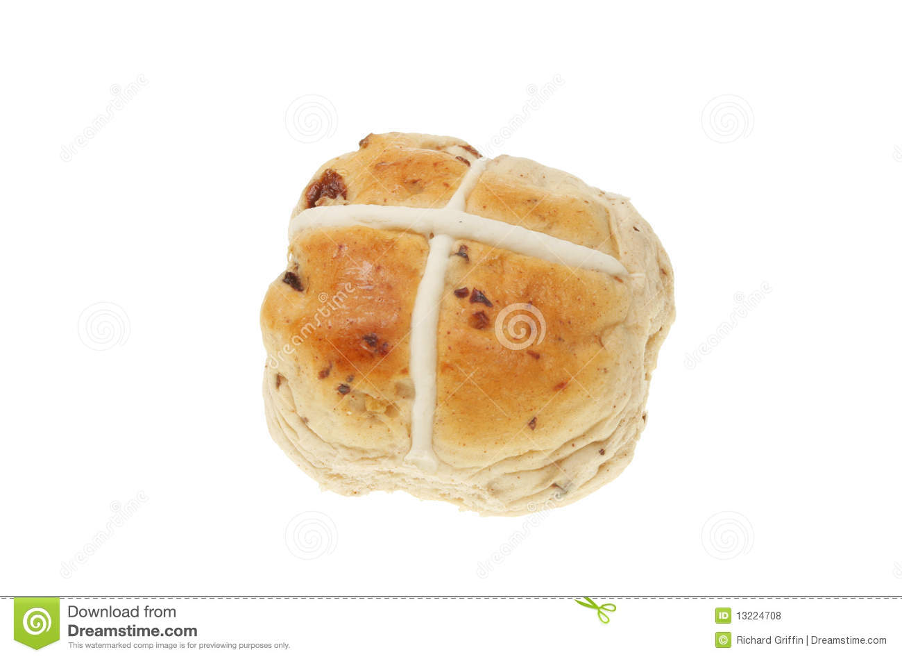 Hot Cross Bun Royalty Free Stock Photos - Image: 13224708