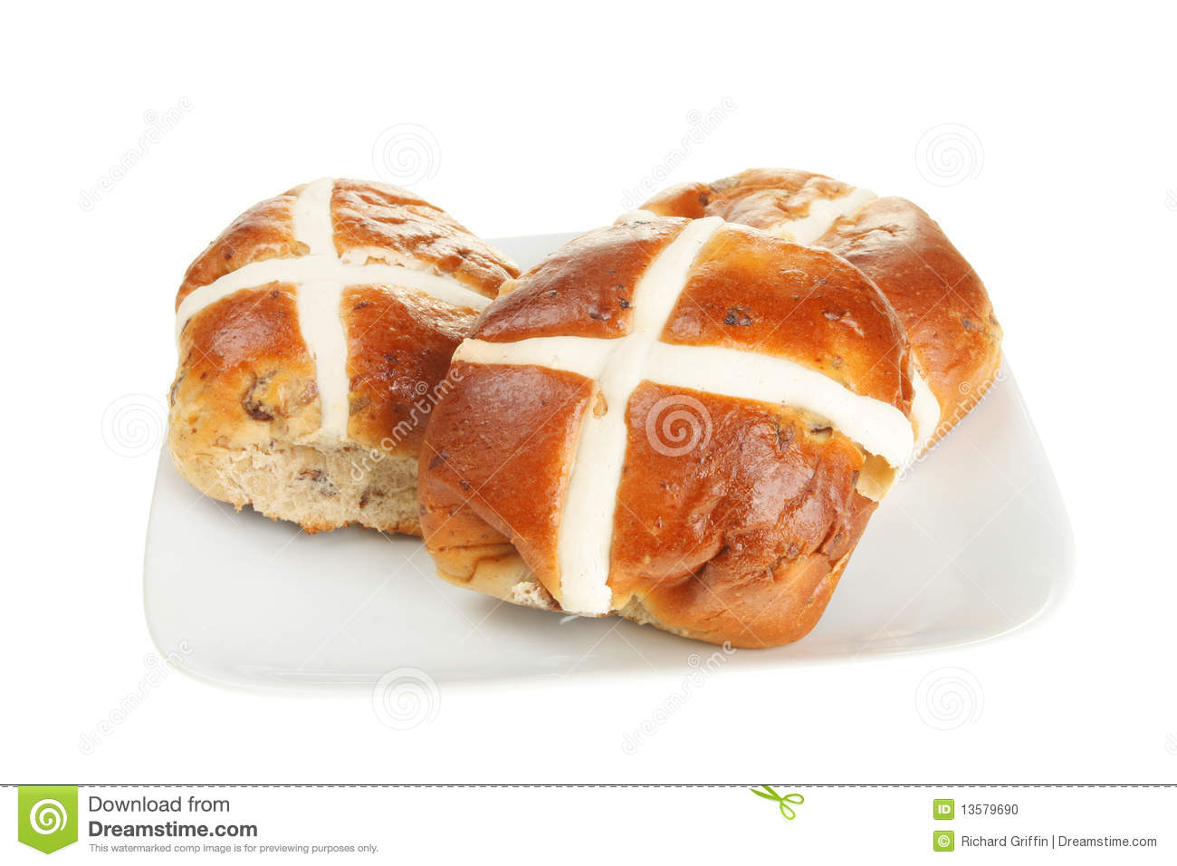 Hot Cross Buns Stock Photo - Image: 13579690