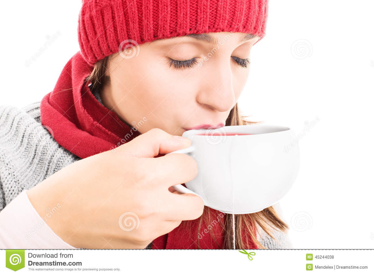 813373fe794d Hot cup of tea stock photo. Image of female