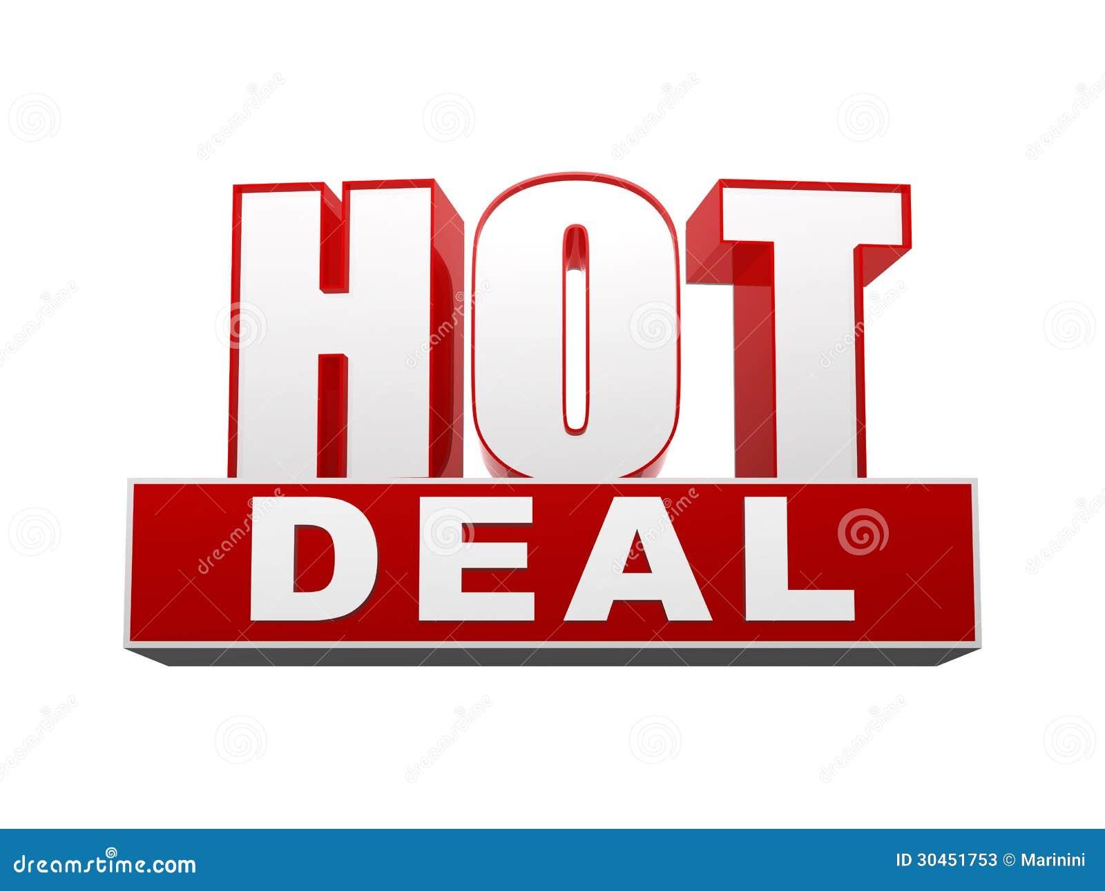 hot deal d letters block text red white business concept 30451753 Lưu ý để tìm chọn được deal tốt
