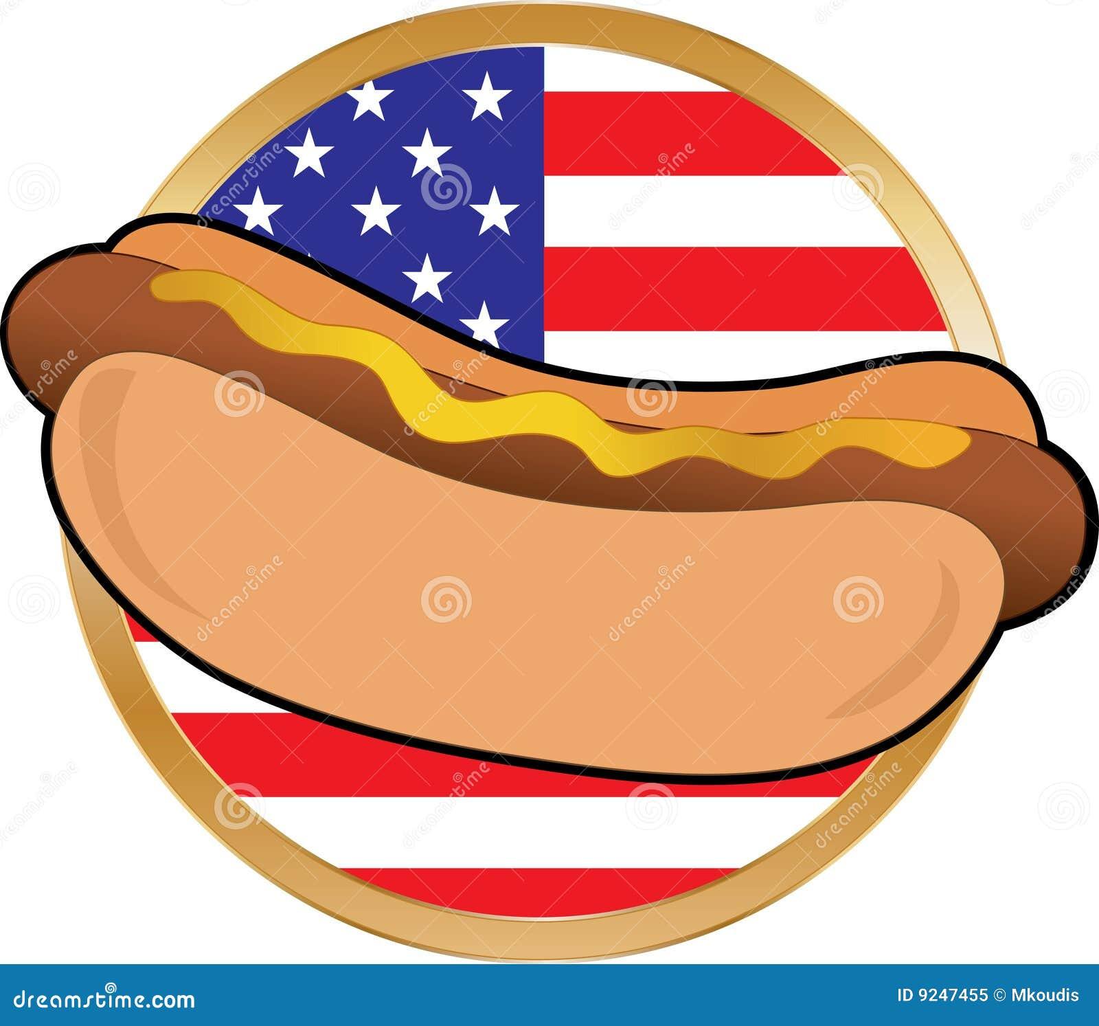 a25e7de9f607 Hot Dog American Flag Stock Illustrations – 107 Hot Dog American Flag Stock  Illustrations