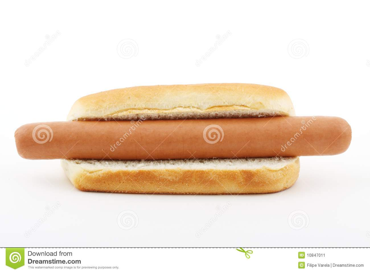 hot dog with a big sausage stock image image 10847011. Black Bedroom Furniture Sets. Home Design Ideas