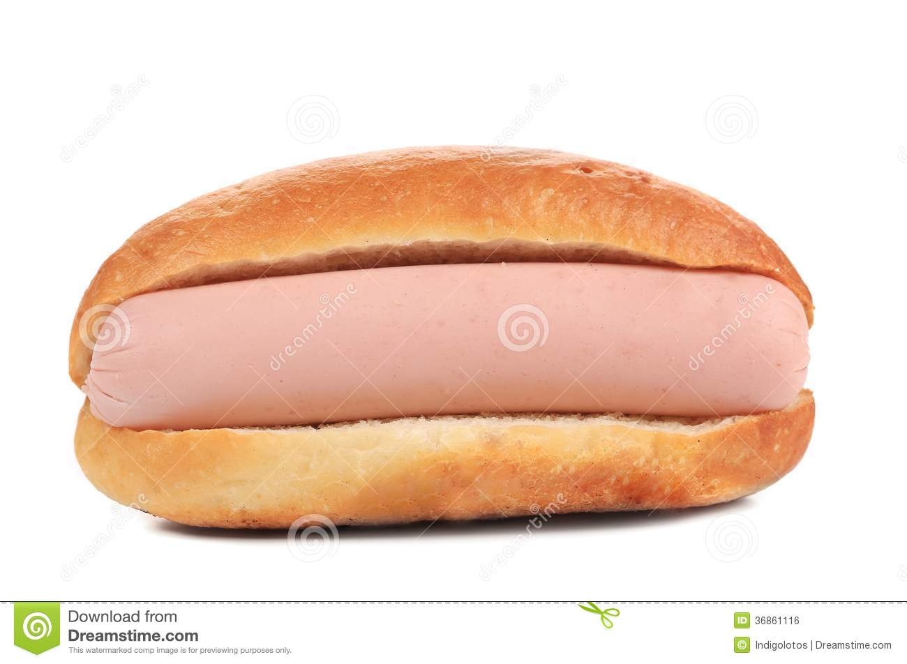Hot Dog In Roll