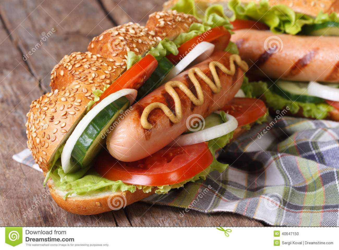 Hot Dog In A Bun With Sesame Seeds And Grilled Sausage ... Uberhaxornova Animated Classics Hot Dog