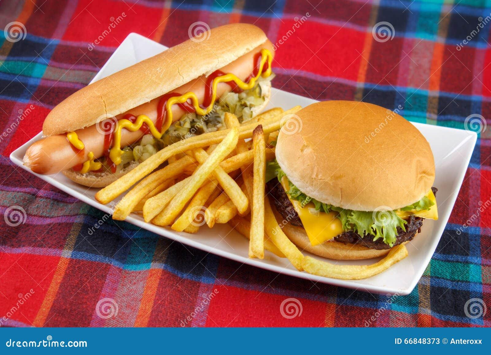 Hot dog , french fries...