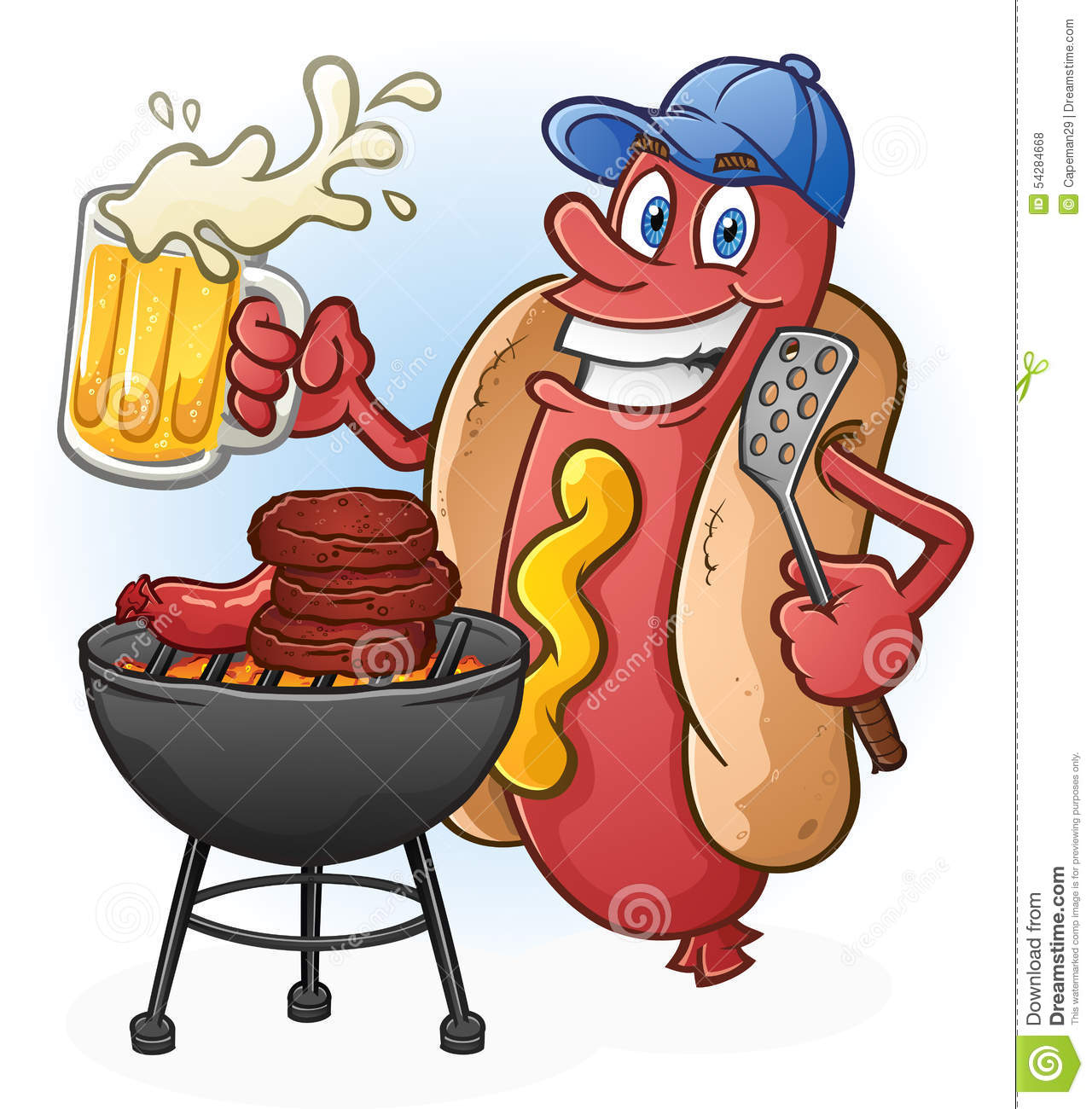 Grilling Hot Dogs Clip Art | www.imgkid.com - The Image ...