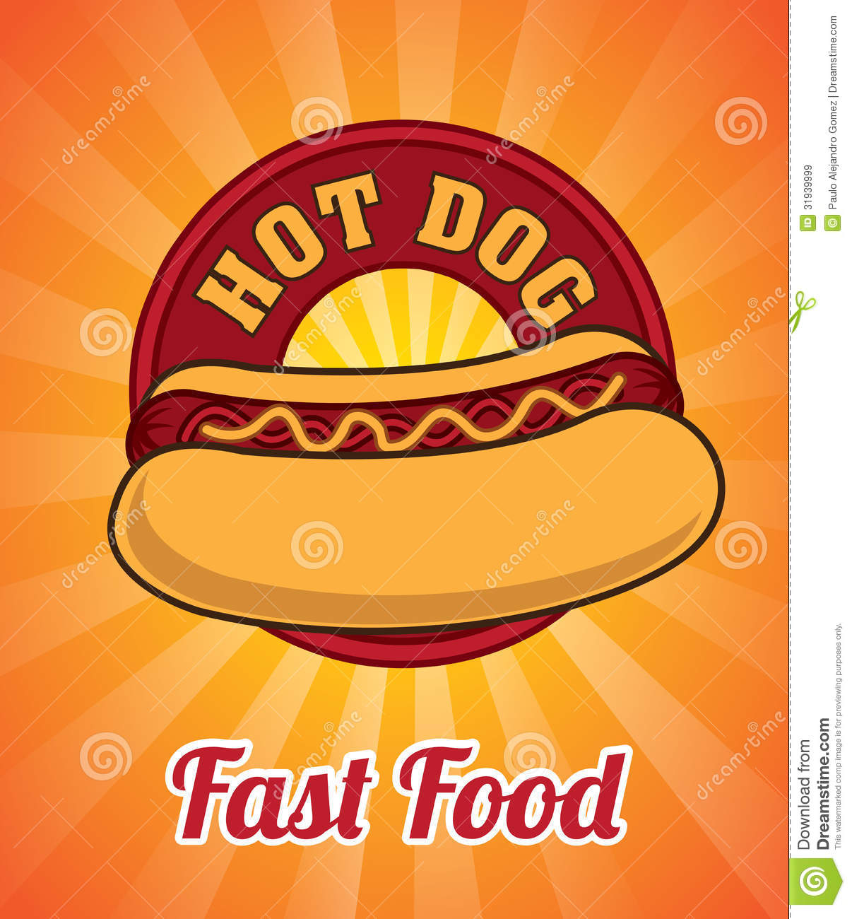 hot dog stock vector  image of ornament  artistic
