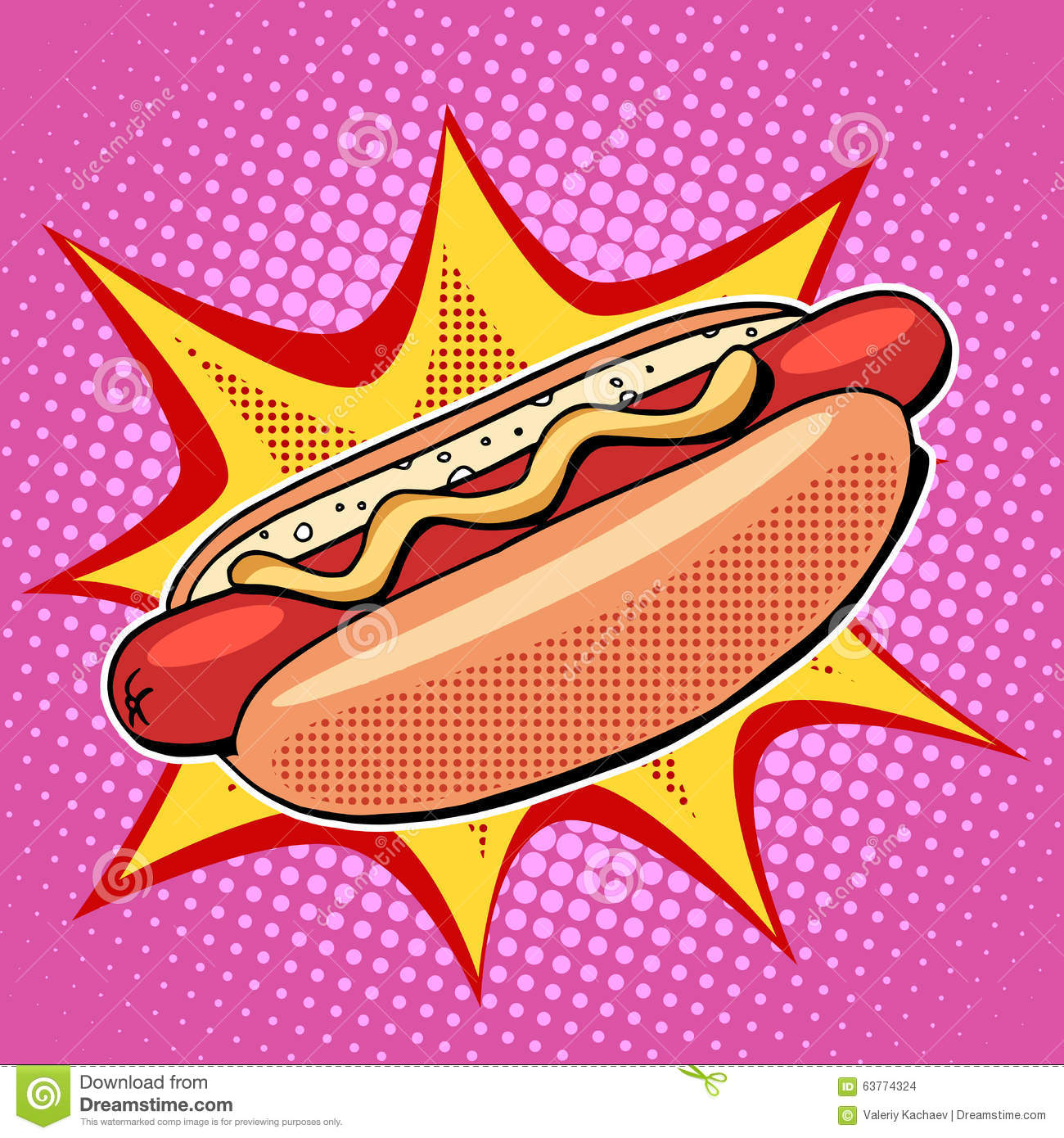 hot dog fast food vector pop art style stock vector fast food clipart free fast food restaurant clipart