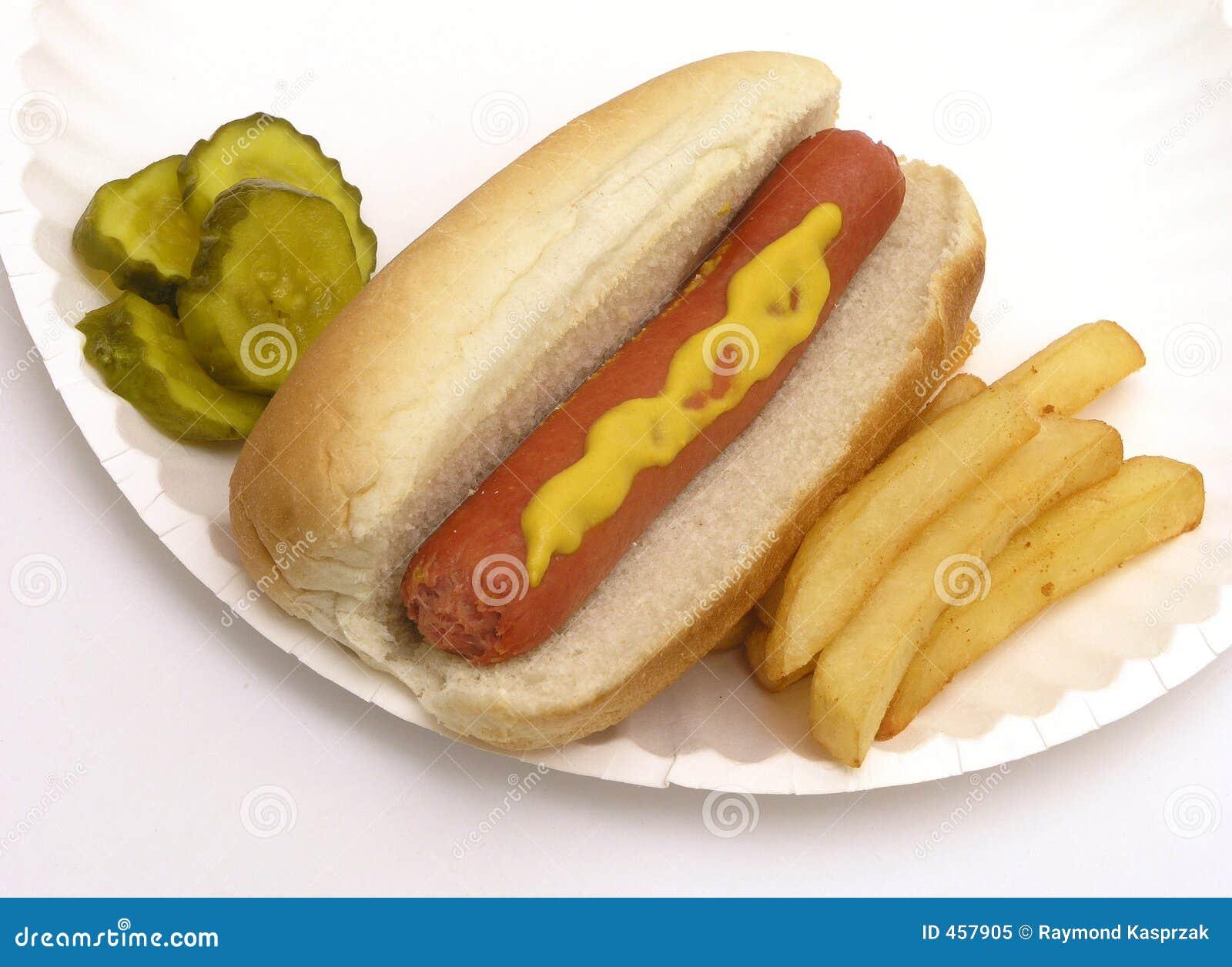 Hot Dog Fries Pickles