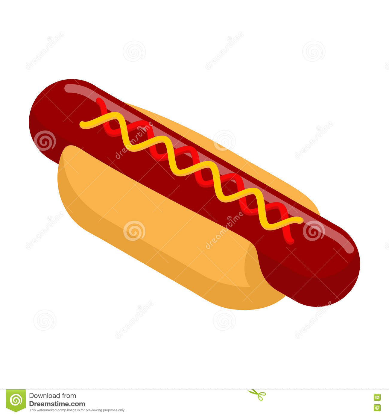 hot dog isometrics bun with sausage mustard and ketchup stock photo image of delicious. Black Bedroom Furniture Sets. Home Design Ideas