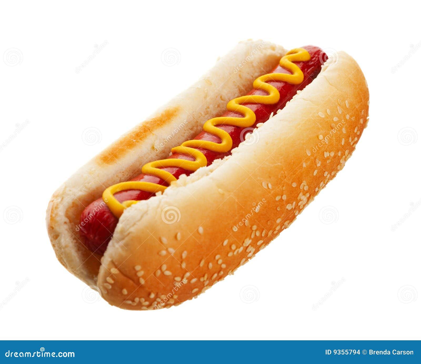 hot dog with mustard stock images image 9355794. Black Bedroom Furniture Sets. Home Design Ideas