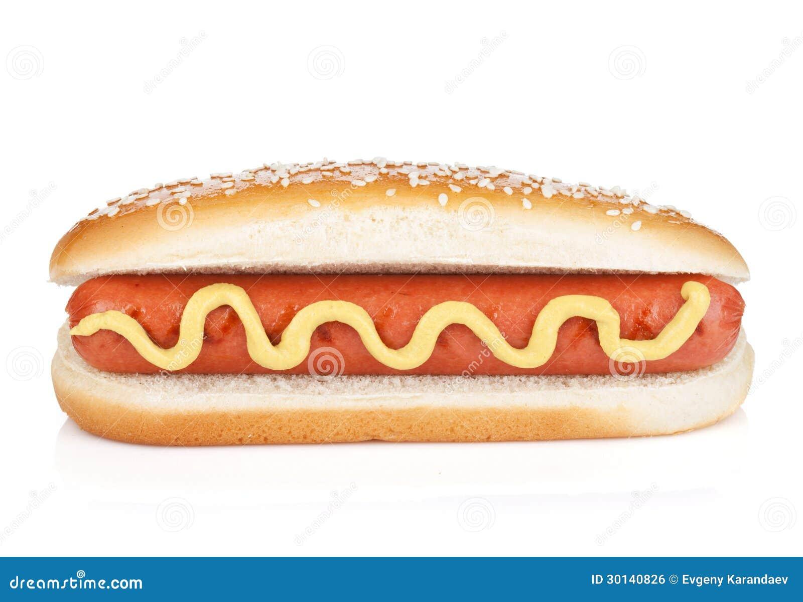 hot dog with mustard royalty free stock image image 30140826. Black Bedroom Furniture Sets. Home Design Ideas